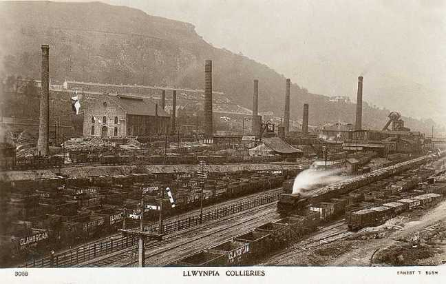 Glamorgan, Rhondda Valleys, Llwynypia Collieries